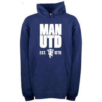 Zims Jaket Hoodie Manchester United Blue