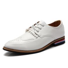 ZNPNXN Formal Men's Business Shoes) White) (Intl)