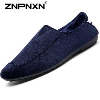 ZNPNXN Men's Fashion Casual Peas Shoes (Blue)