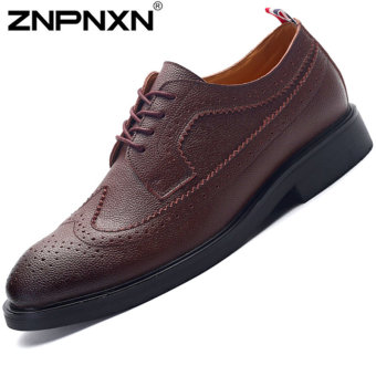 ZNPNXN Men's Fashion Loafers Shoes Lacp-up Shoes Casual Men's Shoes Business Shoes Fashion Shoes (Brown)