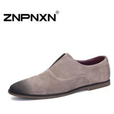 ZNPNXN Men's Fashion Loafers Shoes Slip-on Shoes Casual Men's Shoes Business Shoes Fashion Shoes (Khaki)