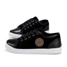 ZNPNXN Men's Fashion Sneaker Low Cut Skater Shoes Black (Intl)