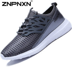 ZNPNXN Men's Fashion Sports Shoes Casual Lovers Running Shoes (Grey)