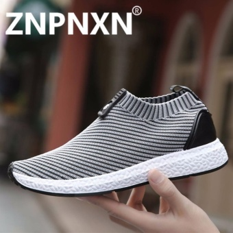 ZNPNXN Running Shoes For Men's Mesh Breathable Sport Shoes Sneakers Male Light Comfort Shoes Sports (Gray) - intl
