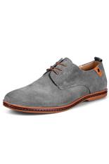 ZNPNXN Suede Fomal Men's Business Shoes (Grey) (Intl)