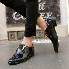 ZNPNXN Suede Men's Formal Shoes Low Cut (Blue)
