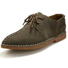 ZNPNXN Suede Men's Formal Shoes Low Cut (Green)