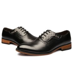 ZNPNXN Synthethic Leather Formal Oxford Shoes Men Business Shoes (Black) (Intl)