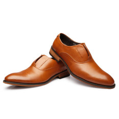 ZNPNXN Synthethic Leather Formal Shoes Men Loafers (Brown) (Intl)