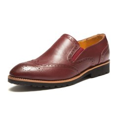 ZNPNXN Synthethic Leather Men's Formal Shoes Derby & Oxfords) Red) (Intl)