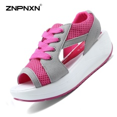 ZNPNXN Women'S Shoes Fashion Shake Shoes Sandals Thick Bottom Fish Mouth Women'S Sandals (Pink) - intl