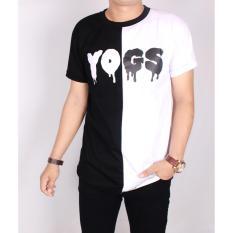 Zoeystore1 5038 Baju Kaos YOGS Pria Lengan Pendek Hitam Putih YoungLex Kombinasi / Baju Kaso Distro