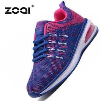 ZOQI Air-cushion Sports Shoes Couple Shoes Sneaker(Purple) - intl