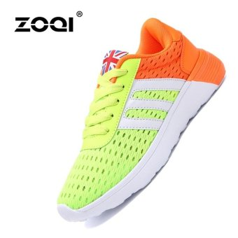 ZOQI Fashion Sports Shoes Younger Couple Shoes Men's And Women's Sneaker (Fluorescent Green) -