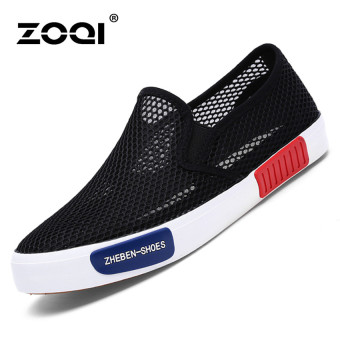 ZOQI Fashion Wanita Sepatu Kets Sepatu Olahraga Kasual Yang Nyaman Untuk  Bernapas (Hitam). 21d8d4e08d
