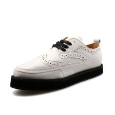 ZOQI Man's Formal Shoes Low Cut Shoes (White)