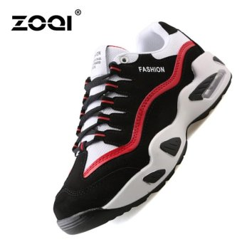 ZOQI Men's Fashion Trendy Running Shoes Damping & Breathable Sports Shoes(Red) - intl