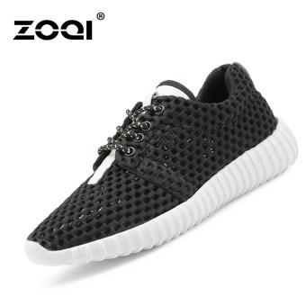 ZOQI Musim Panas Mode Wanita Sepatu Kets Sepatu Olahraga Kasual Yang Nyaman  Untuk Bernapas (Hitam c072da20a1