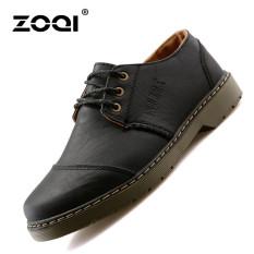 ZOQI Summer Man's Formal Low Cut Shoes Fashion Casual Comfortable Shoes-Black