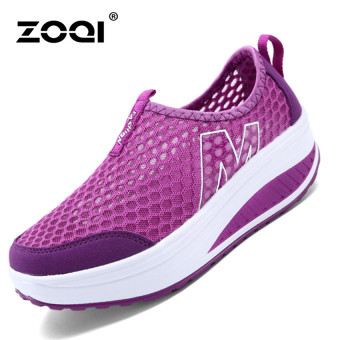 ZOQI Woman's Fashion Sneakers Sport Casual Breathable Comfortable Shoes (Purple) - Intl