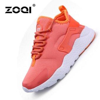 ZOQI Women's Fashion Breathable Running Shoes(Orange) - intl