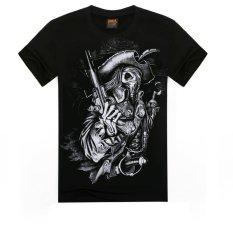 ZUNCLE Men's 3D T Shirt Cotton Men Short Sleeve Printed Men Casual T Shirt Male Creative Designed (D0000036S) (Intl)