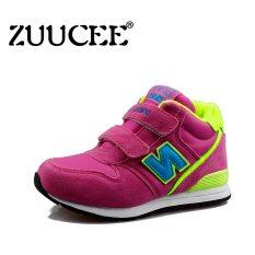 ZUUCEE beludru sepatu anak cowok Fashion musim gugur dan musim dingin sepatu kets (Pink ) - International