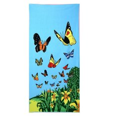 70*150cm Adult Beach Towel Soft Microfiber Absorbent Towel Towel Printing Seaside Beach Towel Family Bathroom Towel - Intl