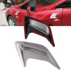 1 Pasang Ac Mobil dekoratif asupan aliran ventilasi kap mesin kap sendok diseduh sendiri gaya universal