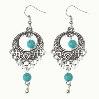 1 Pasang Gaya Bohemia Vintage Yang Berjuntai Pirus Telinga Perhiasan Anting Giwang. Rp. 43.000