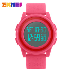 [100% Genuine] SKMEI 1206 Men Women LED Digital Wristwatches Waterproof Sport Thin Fashion Simple Dial Mens Watch - Intl