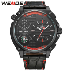 [100% Genuine] WEIDE 1507 Men Watches Top Brand Luxury Men Military Wrist Watches Leather Men Sports Casual Watch Waterproof UV1507 - Intl