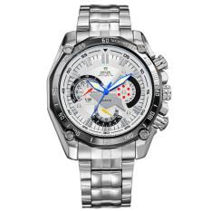 [100% Genuine]WEIDE Brand Men's Quartz Watch Men Sports Watches Analog Stainless Steel Waterproof Military Wristwatches (OVERSEAS)
