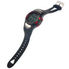 1005 All-in-one Waterproof Strapless Heart Rate Monitor Calorie Counter Digital Watch with Pedometer / Stopwatch Red (Intl)