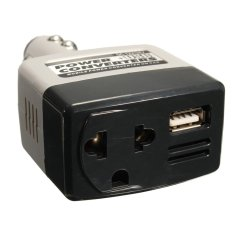 10pcs DC 12/24V To AC 220V Car Charger Power Inverter Adapter Converter + USB Outlet - Intl