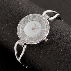 10pcs * Luxury lady diamond chain watch watches quartz watches accessories wholesale diamond temperamentSilver surface leucorrhea - intl