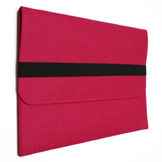 11inch Felt Laptop Sleeve Case Protect Cover Bag For Apple Macbook Pro&Air&Retina Rose Red - Intl