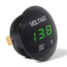 12V-24V Car Motorcycle LED Digital Display DC Voltmeter Socket Waterproof BI314