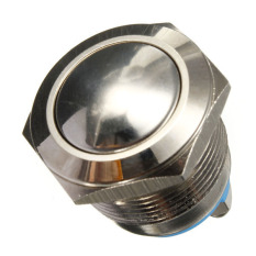 12V Car Waterproof Metal Push Button ON OFF Horn Switch Engine Starter Silver (Intl)