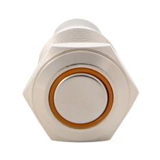 16mm Waterproof Metal Circle Latching Push Button Stainless Switch Orange TE550