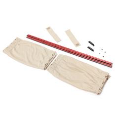 2 buah 70 cm L otomatis jala belakang kelambu sinar UV kerai menutupi kedok mobil tirai jendela krem
