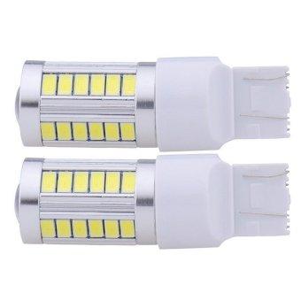 2 buah LED 5630 33 SMD T20 7443 5630 putih 800 lumen lampu sinyal rem parkir