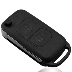 2 Button Flip Folding Key Shell Case Entry Remote Key Cover Replacement For Mercedes Benz A C E S W168 W202 W203 - Intl