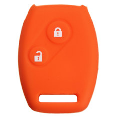 2 Button Silicone Remote Key Case Fob Protector Cover For Honda Accord Civic Orange - Intl
