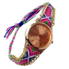 2015 Newest Fashion Women's Pointer Dial Quartz Handwork Knitting WristWatch (Intl)