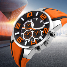 2016 Best Quality TTLIFE Fashion Brand Luxury Men's Sports Quartz Colorful Waterproof Wristwatch (Orange)