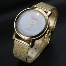 2016 Fashion Full Steel Ladies Wristwatch Luxury Brand Rose Gold Quartz Watche (White) (Intl)