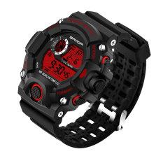 2016 High Quality SANDA 326 Men's Outdoor Sports Multifunctional Waterproof Electronic Watch (Red)