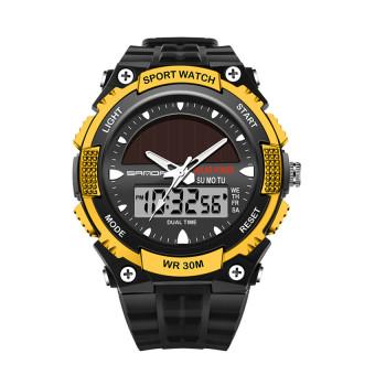2016 High Quality SANDA 719 Multifunctional Outdoor Sports Waterproof Dual Time Display Watch (Gold)