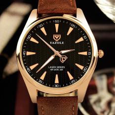 2016 Men's Simple Business Watch Luxury Brand Famous Men Watches YAZOLE Quartz Watch Golden Wristwatch Relogio